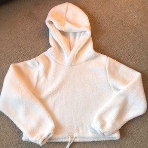 NWOT White Teddy Sweatshirt